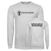 White Long Sleeve T Shirt-Information Technology