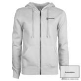 ENZA Ladies White Fleece Full Zip Hoodie-Comms