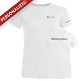 Ladies Russell White Essential T Shirt-Comms