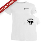 Ladies Russell White Essential T Shirt-HR & A