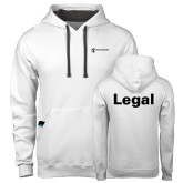 Contemporary Sofspun White Hoodie-Legal