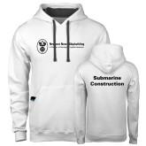 Contemporary Sofspun White Hoodie-Submarine Construction