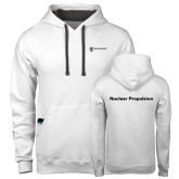 Contemporary Sofspun White Hoodie-Nuclear Propulsion
