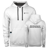 Contemporary Sofspun White Hoodie-Manufacturing and Material Distribution
