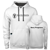 Contemporary Sofspun White Hoodie-Navy Programs