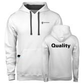 Contemporary Sofspun White Hoodie-Quality