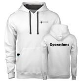Contemporary Sofspun White Hoodie-Operations