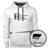 Contemporary Sofspun White Hoodie-Huntington Ingalls Industries