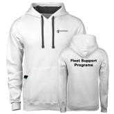 Contemporary Sofspun White Hoodie-Fleet Support Programs