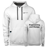 Contemporary Sofspun White Hoodie-Engineering and Design