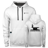 Contemporary Sofspun White Hoodie-Programs Division