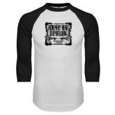 White/Black Raglan Baseball T Shirt-NNS Vintage