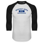 White/Black Raglan Baseball T Shirt-NNS College Design