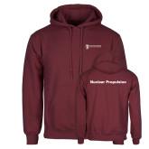 Maroon Fleece Hoodie-Nuclear Propulsion