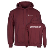 Maroon Fleece Hoodie-Manufacturing and Material Distribution