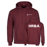 Maroon Fleece Hoodie-HR and A