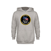 Youth Grey Fleece Hood-CVN 78