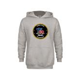 Youth Grey Fleece Hood-CVN 80