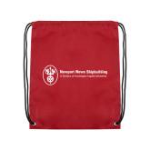 Cardinal Drawstring Backpack-Newport News Shipbuilding