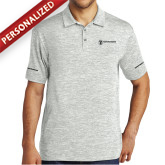 Silver Electric Heather Polo-Comms