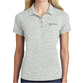 Ladies Silver Electric Heather Polo-Newport News Shipbuilding