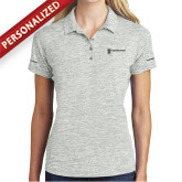 Ladies Silver Electric Heather Polo-Business Management