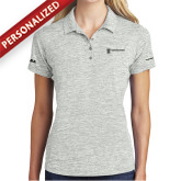 Ladies Silver Electric Heather Polo-HR and A