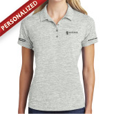 Ladies Silver Electric Heather Polo-Strategic Sourcing