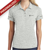 Ladies Silver Electric Heather Polo-Comms