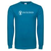 Sapphire Long Sleeve T Shirt-Newport News Shipbuilding