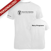 Russell White Essential T Shirt-Navy Programs