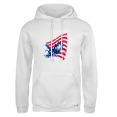 Russell DriPower White Fleece Hoodie-NNS Flag