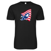 Next Level SoftStyle Black T Shirt-NNS Flag