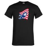 Black T Shirt-NNS Flag