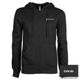 ENZA Ladies Black Fleece Full Zip Hoodie-CVN 80 and 81