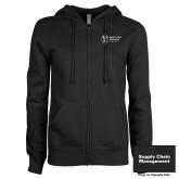 ENZA Ladies Black Fleece Full Zip Hoodie-Strategic Sourcing