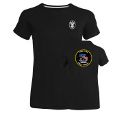 Ladies Russell Black Essential T Shirt-Icon