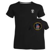 Ladies Russell Black Essential T Shirt-Icon