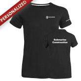 Ladies Russell Black Essential T Shirt-Submarine Construction
