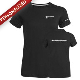 Ladies Russell Black Essential T Shirt-Nuclear Propulsion