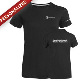 Ladies Russell Black Essential T Shirt-Manufacturing and Material Distribution