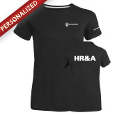 Ladies Russell Black Essential T Shirt-HR and A