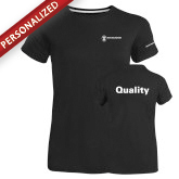 Ladies Russell Black Essential T Shirt-Quality