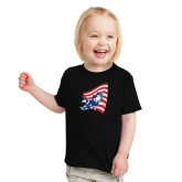 Toddler Black T Shirt-NNS Flag