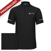 Black Horizontal Textured Polo-Navy Programs