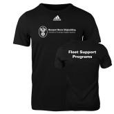 Adidas Black Logo T Shirt-Fleet Support Programs