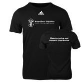 Adidas Black Logo T Shirt-Manufacturing and Material Distribution