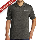 Charcoal Electric Heather Polo-Comms