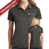 Ladies Charcoal Electric Heather Polo-ISCVN
