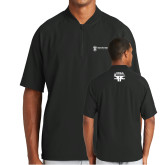 New Era Black Cage Short Sleeve 1/4 Zip-HR and A